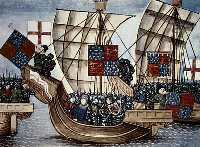 Fleur De Lis Photograph - Hundred Years War. English Troops by Everett