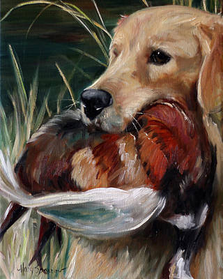 Dog Art Painting - Hung by Mary Sparrow