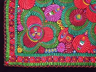 Hungarian Magyar Matyo Folk Embroidery  Art Print by Andrea Lazar