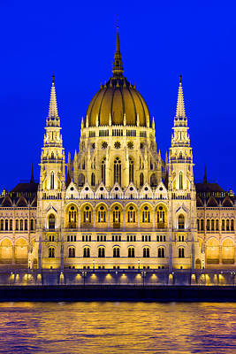 Budapest Sights Photograph - Hungarian Parliament At Twilight by Artur Bogacki