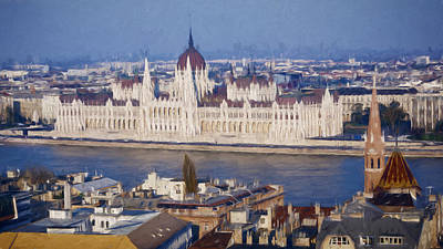 Budapest Hungary Photograph - Hungarian Parliament Impressions by Joan Carroll