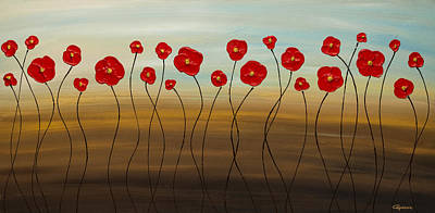 Painting - Hungarian Poppies by Carmen Guedez