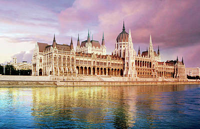 Danube Photograph - Hungary, Budapest, View by Miva Stock