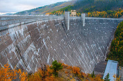 Photograph - Hungry Horse Dam Montana by Brenda Jacobs