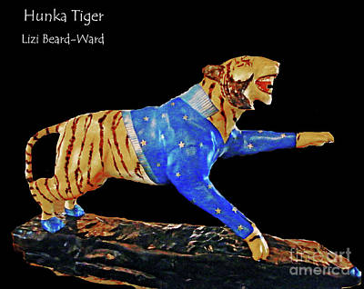 Mixed Media - Hunka Hunka Tiger University Of Memphis by Lizi Beard-Ward