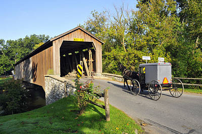 Art Print featuring the photograph Hunseckers Mill Covered Bridge by Dan Myers