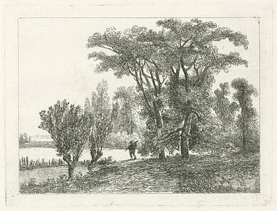 Hunter At A Forest Edge, Hermanus Jan Hendrik Van Art Print by Hermanus Jan Hendrik Van Rijkelijkhuysen