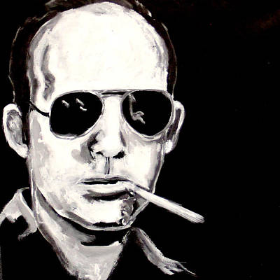 Hunter S. Thompson Painting - Hunter by Austin Angelozzi