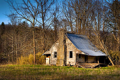 Photograph - Hunter England Cabin - Rustic North Georgia Cabin by Mark E Tisdale