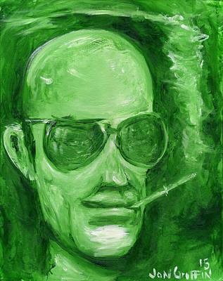 Hunter S. Thompson Painting - Hunter Green by Jon Griffin
