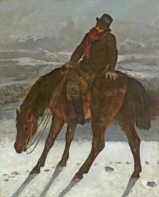 Hunter On Horseback, C.1864 Art Print by Gustave Courbet