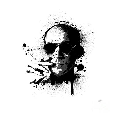 Las Vegas Painting - Hunter S. Thompson by Laurence Adamson