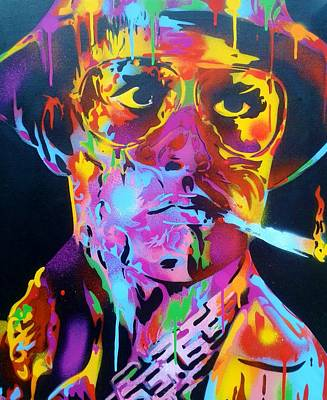 Hunter S. Thompson Painting - Hunter S Thompson by Leon Keay