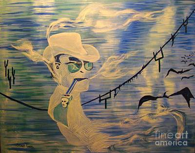 Hunter S. Thompson Painting - Hunter Trails by Stuart Engel