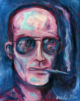 Hunter S. Thompson Painting - Hunter Two Tone by Jon Griffin