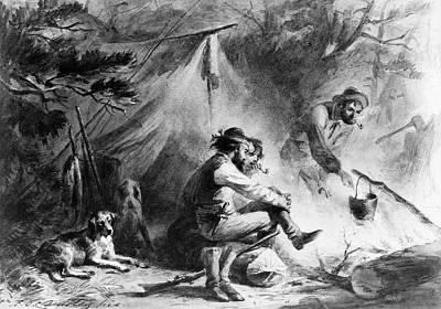 Hunters At Camp Art Print by Granger