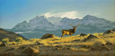 Elk Painting - Hunter's Dream - Elk by Paul Krapf
