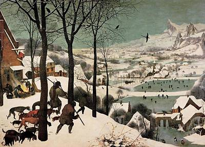 Wall Art - Painting - Hunters In The Snow Pieter Bruegel by Pieter Bruegel