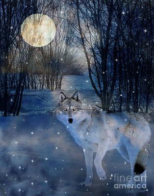 Judy Wood Digital Art - Hunter's Moon by Judy Wood