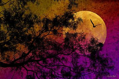 Hunter's Moon Art Print by Karen Slagle