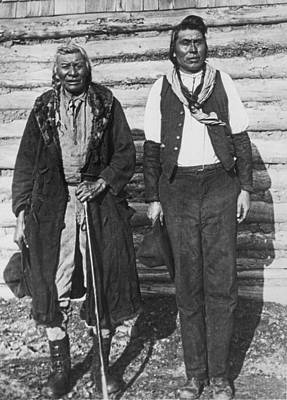 Father And Son Photograph - Hunters To Farmers by Underwood Archives