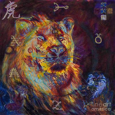 Zodiac Symbols Mixed Media - Hunter's Zodiac by Angie Bray-Widner
