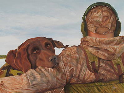 Painting - Hunting Boyfriend by Tammy  Taylor