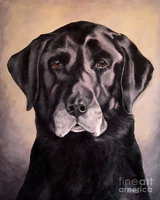 Painting - Hunting Buddy Black Lab by Amy Reges