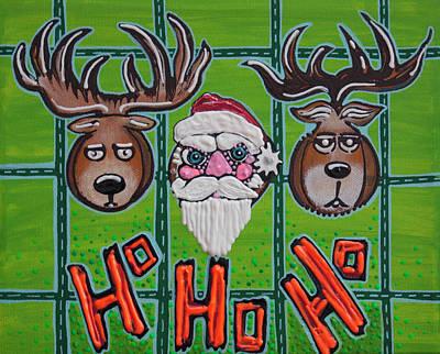 Santa Painting - Hunting Ho Ho Ho by Laura Barbosa