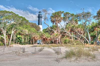 Hunting Island - Beach View Print by Scott Hansen