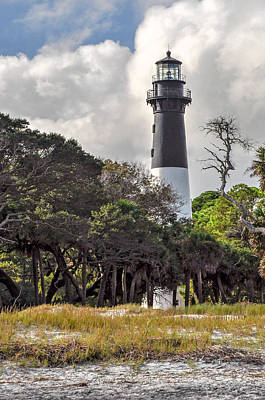 Hunting Island Lighthouse Art Print by Donnie Smith