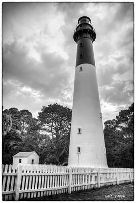 Photograph - Hunting Island Lighthouse Oldschool by Walt  Baker