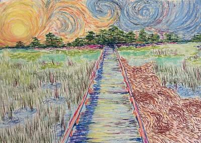 Hunting Island Marsh Walk I Art Print
