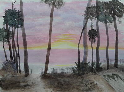 Painting - Hunting Island Sunrise - Sketch by Joel Deutsch