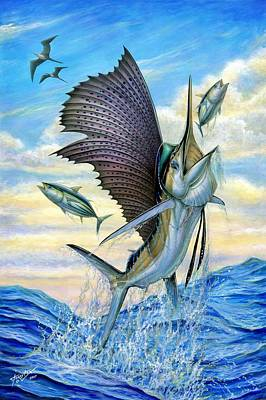 Painting - Hunting Of Small Tunas by Terry Fox