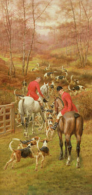 The Hunt Painting - Hunting Scene, 1906 by Edward Algernon Stuart Douglas