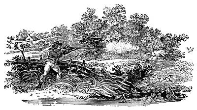 Hunting Scene, C1800 Art Print by Granger