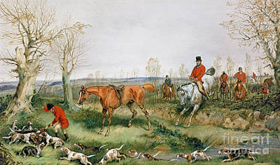 Hunting Scene Art Print by Henry Thomas Alken