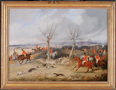 Crying Painting - Hunting Scene In Full Cry The Belvoir Hunt Full Cry Signed by Litz Collection