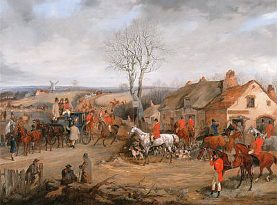 Hunting Scene The Meet The Belvoir Hunt The Meet Print by Litz Collection