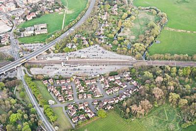 Vertigo Photograph - Huntingdon Railway Station by Tom Gowanlock