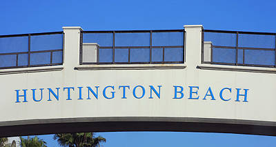 Photograph - Huntington Beach by Art Block Collections