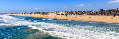 Huntington Beach California Photograph - Huntington Beach California Panorama Photo by Paul Velgos