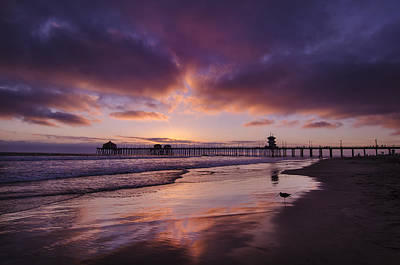 Huntington Beach California Art Print by Sean Foster