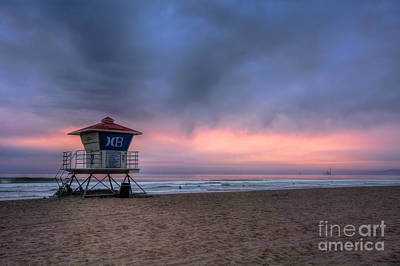 Photograph - Huntington Beach Lifeguard Tower by Eddie Yerkish