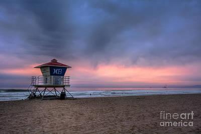 Photograph - Huntington Beach Lifeguard Tower by Eddie Yerkish