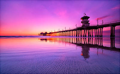 Huntington Beach Art Print by Lincoln Harrison