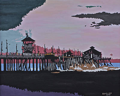 Painting - Huntington Beach Pier 1 by Carol Tsiatsios
