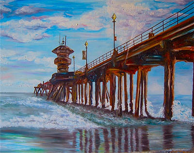 Painting - Huntington Beach Pier 2 by Carol Tsiatsios