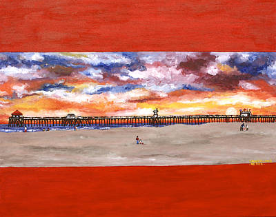 Painting - Huntington Beach Pier 3 by Carol Tsiatsios